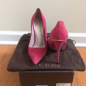 aa4731c7e49d Gucci Shoes - Authentic Gucci Pumps Fuchsia Suede